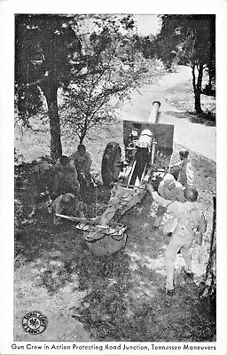 Us Army Signal Corps-Ww2-Gun Crew Protects Junction-Tennessee Maneuvers Postcard