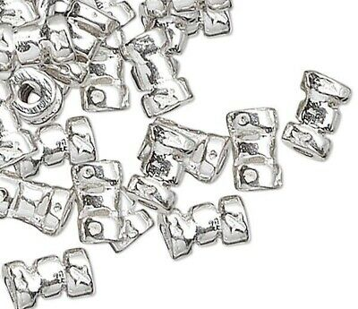 10 Sterling Silver 5x3mm Crimp Beads with 1.3mm ID