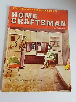 Vtg Magazine Home Craftsman October 1961