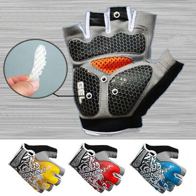 MTB Road Bike Cycling Half Finger Gloves Bicycle Riding Race Gel Pads Fingerless