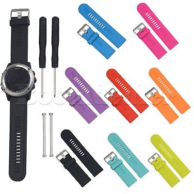 Silicone Watch Band Wrist Sport Strap For Garmin Fenix 3 Fenix 2 GPS Watch +Tool