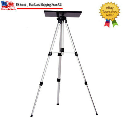 Portable Adjustable Projector Tripod Stand With Tray For Laptop Camera 50-140cm