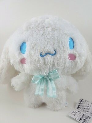 "Sanrio Cinnamoroll Plush Super Cute with Blue Ribbon 14"" Brand New from Japan"