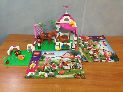 Lego Belville 7585 Horse Stable Used Complete Boxed With