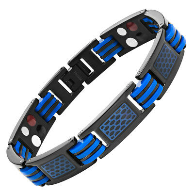 Willis Judd Mens Titanium Magnetic Therapy Bracelet with size adjusting tool