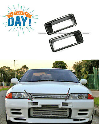 NEW 2PCS NSM N1 Style Front Bumper Vents Duct For Nissan R32 GTR Carbon  Fiber