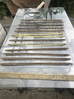 13 Victorian Brass  Stair Rods  No  Brackets Sorry