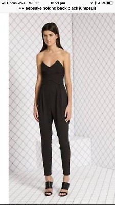 Keepsake black sleeveless jumpsuit NWOT size XS 6 (a11)