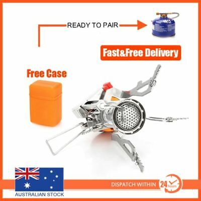 Portable Outdoor Picnic Butane Gas Stove Burner Camping BBQ Mini Steel