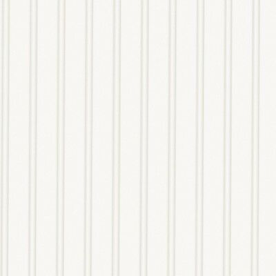 Beadboard Paintable Wallpaper Pre-pasted Wall 56 Sq. Ft. White Washable