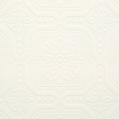 Ceiling Tile Paintable White Paintable Wallpaper Covering 56 Sq Ft Covering New