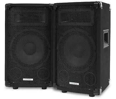 "Paar 300W Dj Pa Hifi Lautsprecher Party Monitor Box 8"" (20Cm) Bass Subwoofer Set"