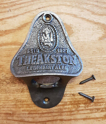Theakston 1827 Ales Cast Iron Antique Retro Style Wall Mounted Bottle Opener