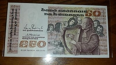 Ireland 50 Pounds 1991 UNC