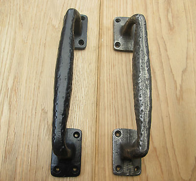 "10"" Cast Iron Vintage Old Decorative Fancy Heavy Gate Door Barn Pull Handles"