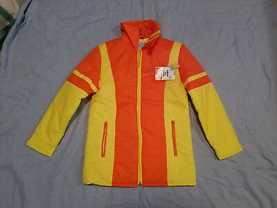 vintage  boys ski jacket 1970's K-mart never worn size M orange/yellow bright!!