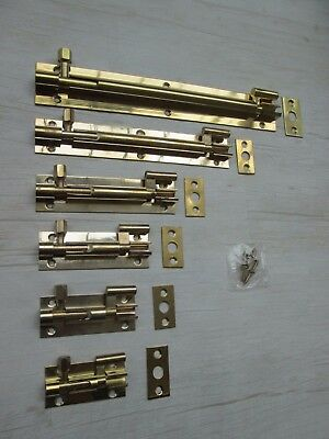 Bathroom Toilet Cupboard Barrel Door Lock Bolts Necked Cranked +Screw
