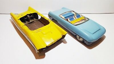 Set of 2 tin plate cars for restorastion or spares incomplete