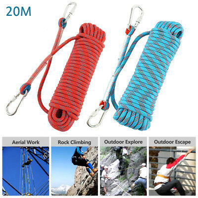 20M Braided Climbing Rope Tree Cord Sailing Rescue Escape Polypropylene Rope UK
