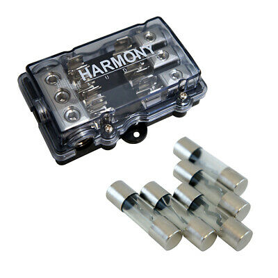 Harmony Audio HA-AGUFD3 Car 3-Way AGU Fused Distribution Block & 50 Amp Fuses
