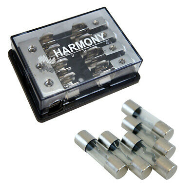 Harmony Audio HA-AGUFD4 Car 4-Way AGU Fused Distribution Block & 30 Amp Fuses