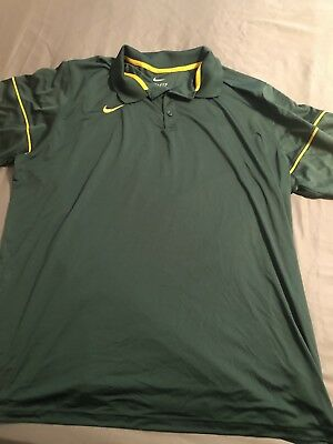 605ff95e MEN'S NIKE POLO Shirt Green w/Gold Accents great Cond Sz 3XL ...