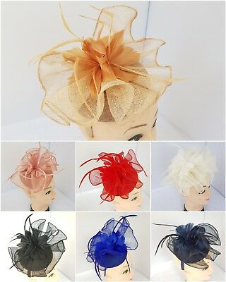 Elegant Headband and clip Fascinator Hat Wedding,Ladies Day,Race Royal Ascot