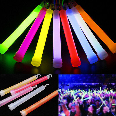 50x 6'' Glow Sticks Fluorescent Neon Party Wedding Magic Camping Emergency Light