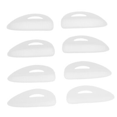 4 Pairs Silicon Eyelash Lift Perm Curler Pad/Shield/Rods with Embedded Ridge