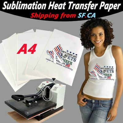 "50 Sheets A4 (8.5"" x 11.5"") Sublimation Ink Heat Transfer Paper Inkjet Printer"