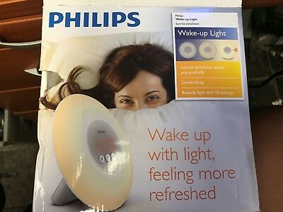 Philips Wake-Up Light Alarm Clock with Sunrise Simulation (White) (HF3500/60)
