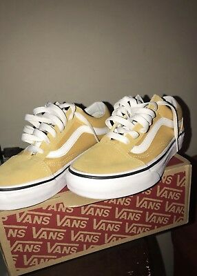 a5b79423dca60b NEW VANS OLD Skool Skate Shoe YELLOW Suede Ochre Canvas Mens Shoes ...