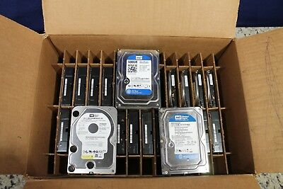 "LOT OF 24 500GB 3.5"" SATA Desktop Hard Drives Mix Brand Mix Speeds"