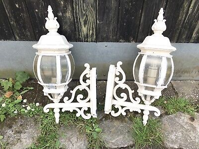 reclaimed Pair Of Vintage lamp coach lantern Wall Outdoor lights