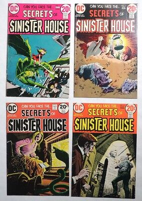 ESZ6740. SECRETS OF SINISTER HOUSE #7 #11 #12 #14 DC Comics 7.0 FN/VF (1973) '