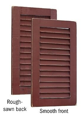 Primitive Pine 2 Foot Tall Pair of Decorative Louver Shutters -Amish Made in USA