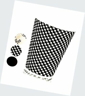 Party Insulated Cups  - 50 Pack - Stylish HOUNDSTOOTH DESIGN