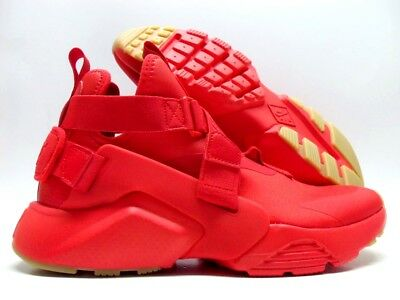 35692a2a8260d NIKE AIR HUARACHE City Speed Red black Size Women 9.5  Ah6787-600 ...