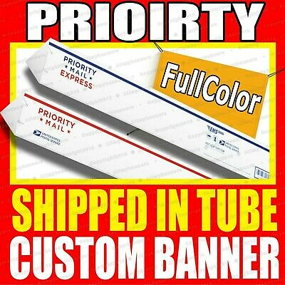 4' x 8' Full Color Custom Banner 13oz Vinyl - Free Same Day Shipping Rolled AMBE