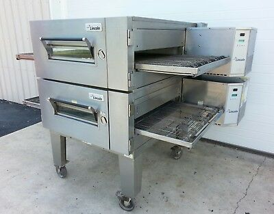 "Lincoln Impinger 1600 Double Deck Gas Conveyor Pizza Ovens ***Belt Width 32""***"