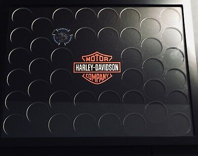 Harley-Davidson Poker Chip Collectors Display Frame (Holds42), 13.5 x 10.5 inch