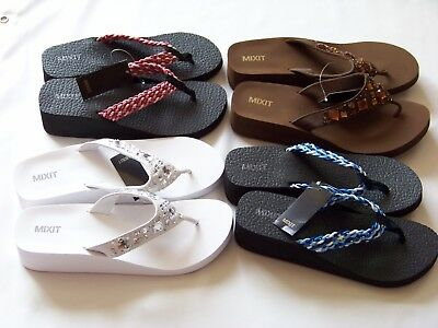 4ce2e31f767d38 NEW MIXIT WOMEN S Flip-Flops Shoes Szs. 8