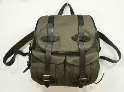 Genuine FILSON Backpack 262. Cotton Rugged Twill Bridle Leather Strap Field USA
