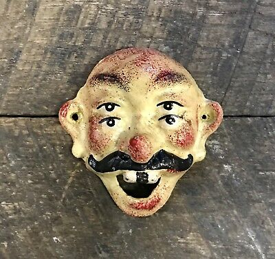 Cast Iron Vintage Wilton Four-Eyed Mustache Man Wall-Mount Beer Bottle Opener