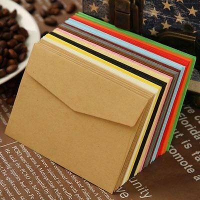 100Pcs Retro Blank Paper Envelopes Wedding Party Invitation Greeting Cards Gift