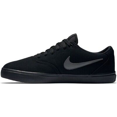 Nike SB Check Solarsoft Canvas Shoes Mens in Black Anthracite