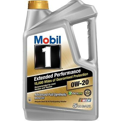 Mobil 1 Extended Performance 0W-20 Full Synthetic Motor Oil, 5 qt car
