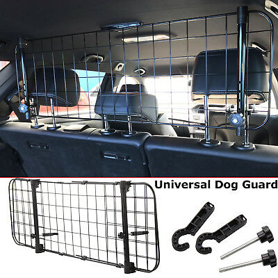 Universal Car Pet Dog Guard Adjustable Headrest Travel Mesh Grill Safety Barrier
