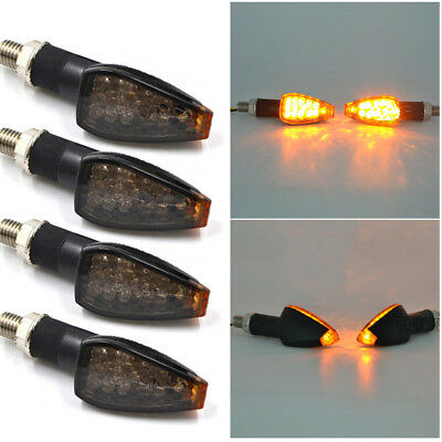 4 x Amber Turn Signal LED Blinker Light Indicator for Most Motorcycle Honda KTM