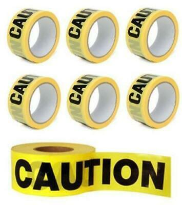 50M Caution Tapeyellow Pvc Roll Self Adhesive Hazard Safety Warning Tape